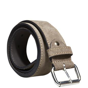 Pánský kožený pásek bata, béžová, 953-8106 - 13