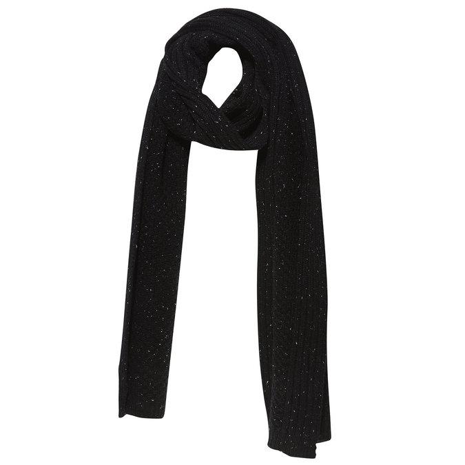 Pánská pletená šála bata, černá, 909-6382 - 13