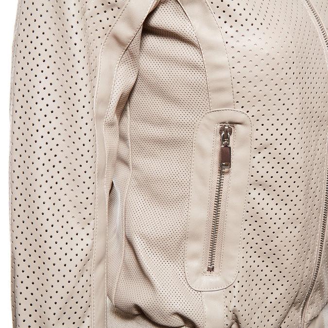 Dámská bunda s perforací bata, béžová, 971-5172 - 16