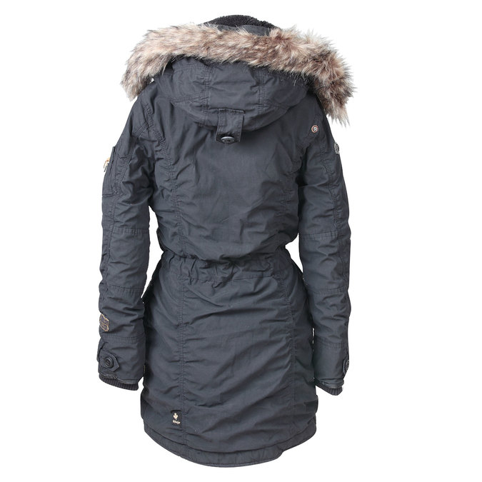 Dámská zimní bunda ve stylu Parky khujo, černá, 979-6014 - 26