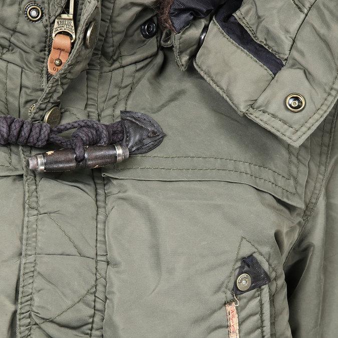 Pánská zimní bunda s kapucí khujo, zelená, 979-7033 - 16