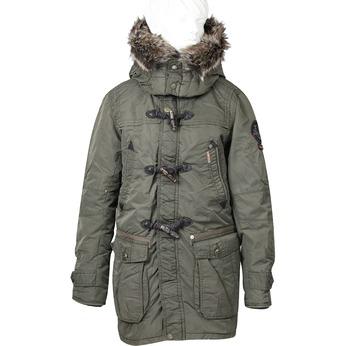 Pánská zimní bunda s kapucí khujo, zelená, 979-7033 - 13