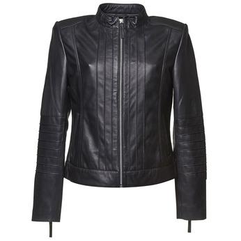 Dámská kožená bunda bata, černá, 974-6147 - 13