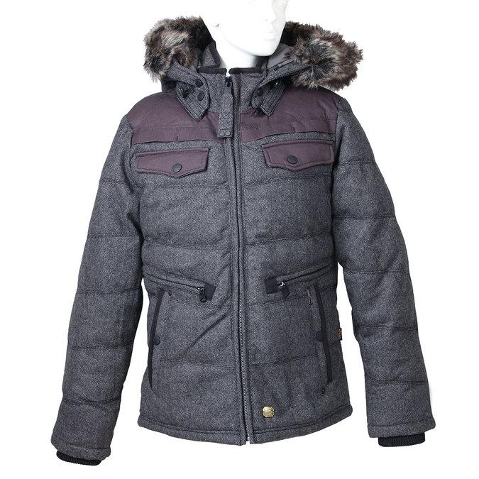Pánská zimní bunda s kožíškem khujo, šedá, 979-2034 - 13