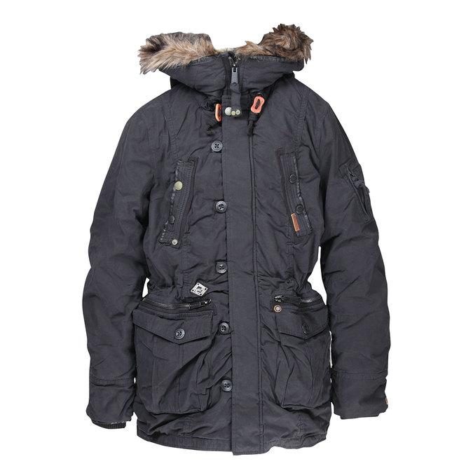 Pánská zimní bunda s kapucí khujo, černá, 979-6038 - 13
