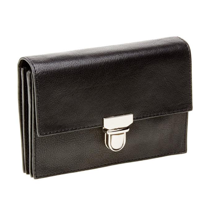 Kožená peněženka s přezkou vagabond, černá, 944-6119 - 13