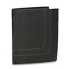 Kožená peněženka s prošitím bata, černá, 944-6148 - 13