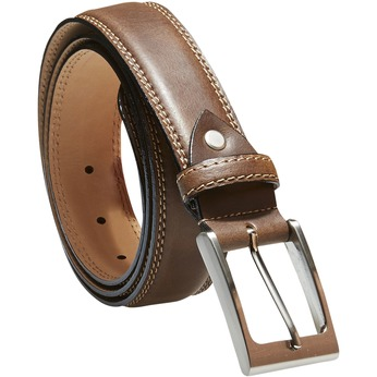 Klasický kožený pásek bata, hnědá, 954-3828 - 13