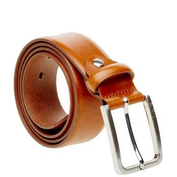 Kožený opasek bugatti-belts, hnědá, 954-3021 - 13