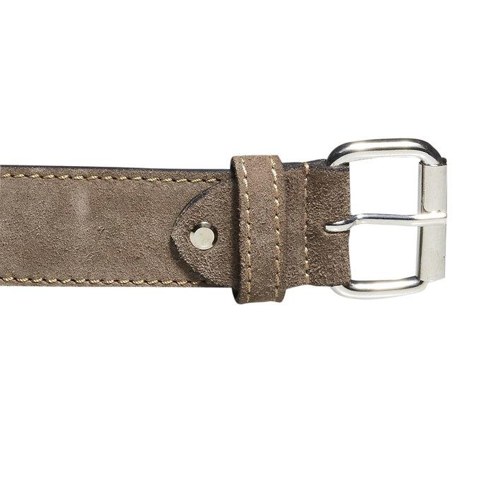 Pánský kožený pásek bata, béžová, 953-8106 - 26