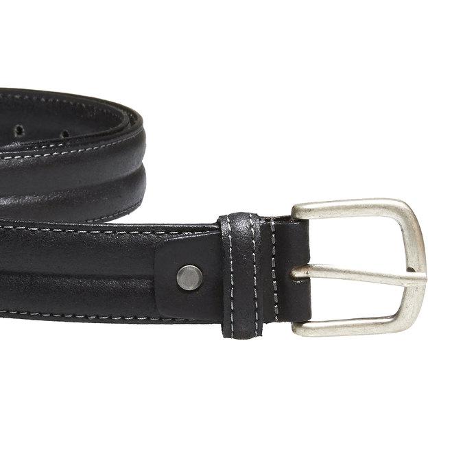 Pánský kožený opasek bata, černá, 954-6128 - 26