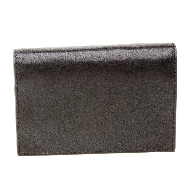 Kožená peněženka s přezkou vagabond, černá, 944-6119 - 26