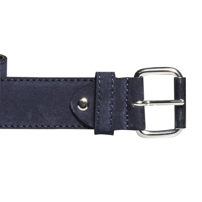 Pánský kožený pásek bata, modrá, 953-9106 - 26