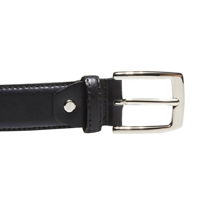 Pánský kožený opasek bata, černá, 954-6170 - 26