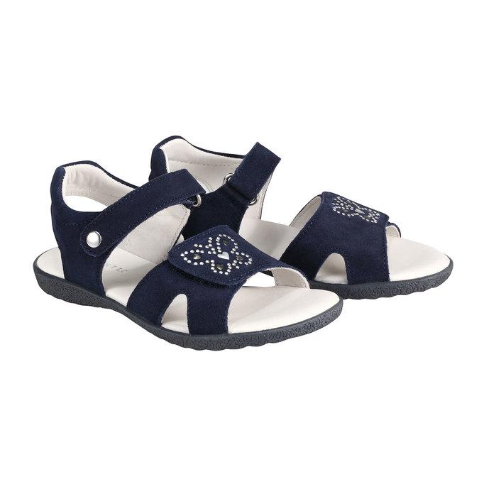 Kožené sandály richter, fialová, 263-9100 - 26