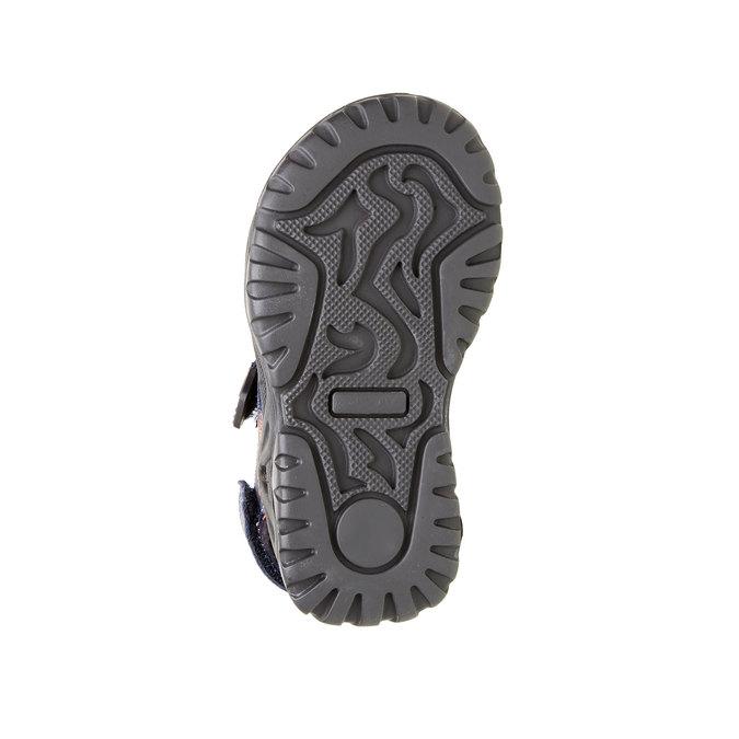 Dětské kožené sandály mini-b, modrá, 466-9121 - 26