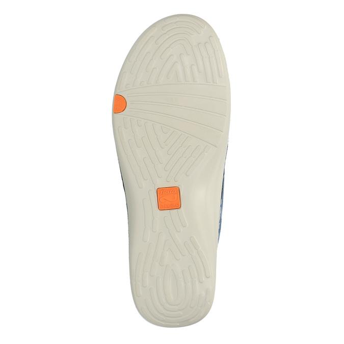 Ležérní kožené tenisky flexible, modrá, 526-9603 - 26