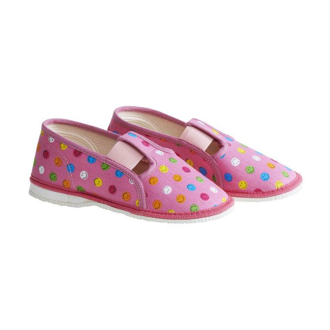 Dětská domácí obuv bata, růžová, 179-5105 - 26