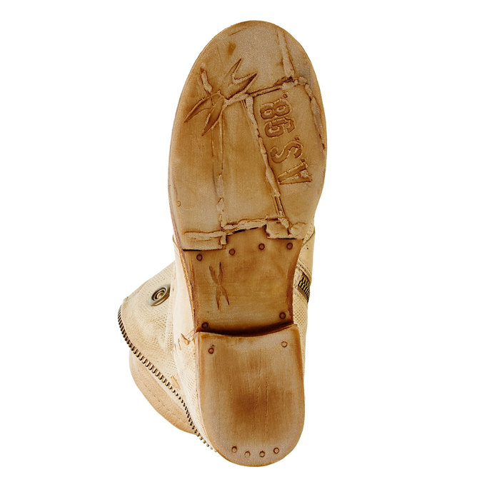 Kožené kotníkové boty a-s-98, béžová, 596-8006 - 26