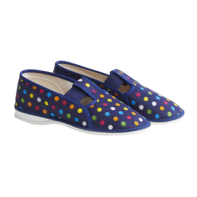 Dětské pantofle bata, modrá, 379-5012 - 26