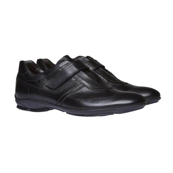 Pánské kožené tenisky bata, černá, 814-6989 - 26