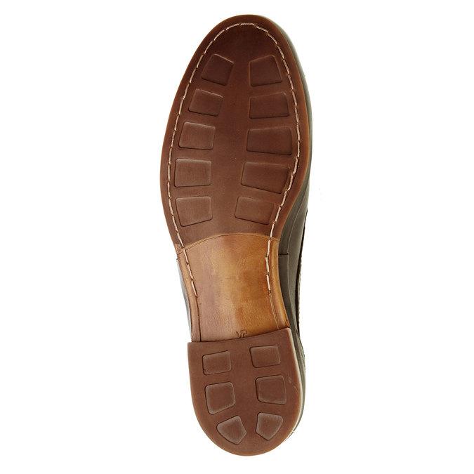 Pánské kožené polobotky bata, hnědá, 824-4300 - 26