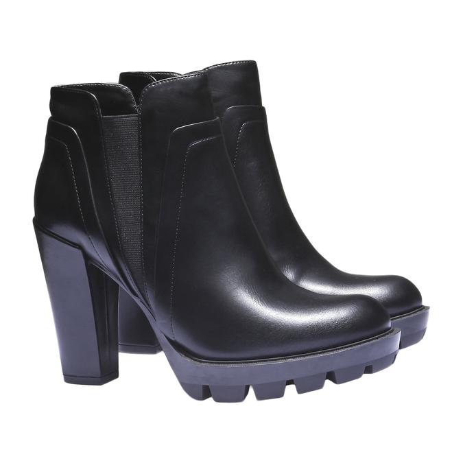 Chelsea na originální podešvi bata, černá, 791-6572 - 26
