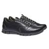 Kožené tenisky bata, černá, 844-6270 - 26