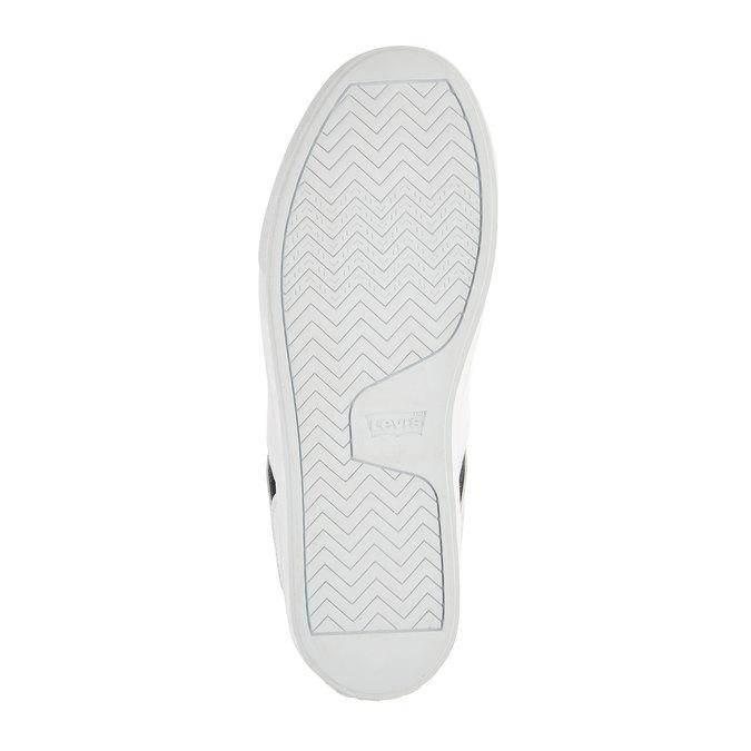 Bílé tenisky s denimovými detaily levis, bílá, 841-1550 - 26