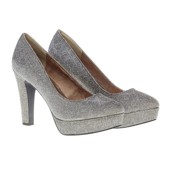 Lodičky na vysokém podpatku bata, stříbrná, 721-1101 - 26