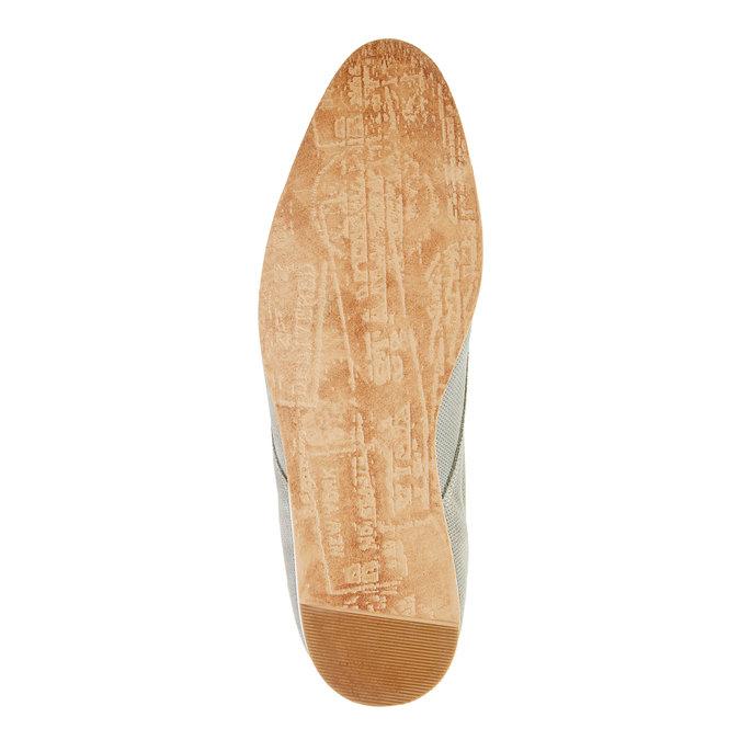 Ležérní kožené polobotky bata, šedá, 826-2107 - 26
