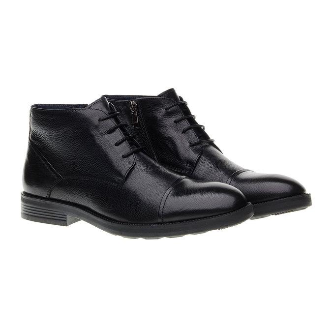 Kožené kotníkové Chukka Boots bata, černá, 894-6260 - 26