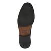 Kožené polobotky s kulatou špicí bata, černá, 824-6657 - 26