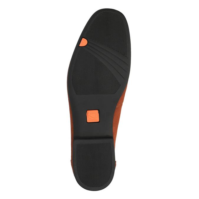Pánské kožené mokasíny flexible, červená, 853-5186 - 26