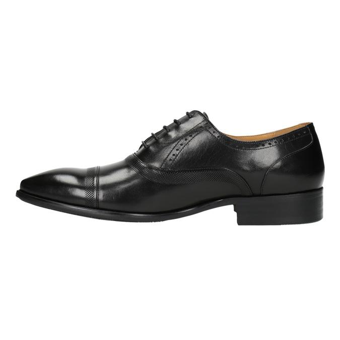 Kožené polobotky v Oxford střihu bata, černá, 824-6642 - 26