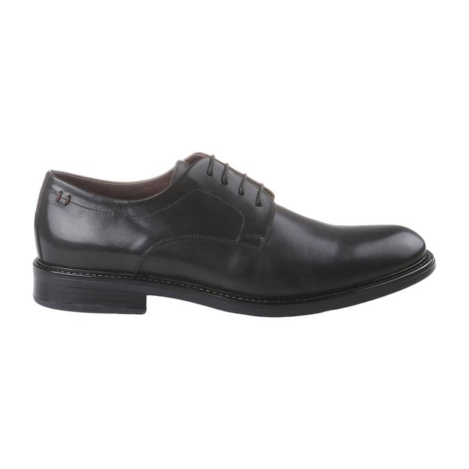 Kožené polobotky bata-comfit, černá, 824-6938 - 26