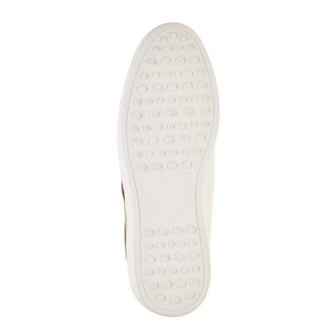 Ležérní kožené tenisky bata, béžová, 846-7638 - 26