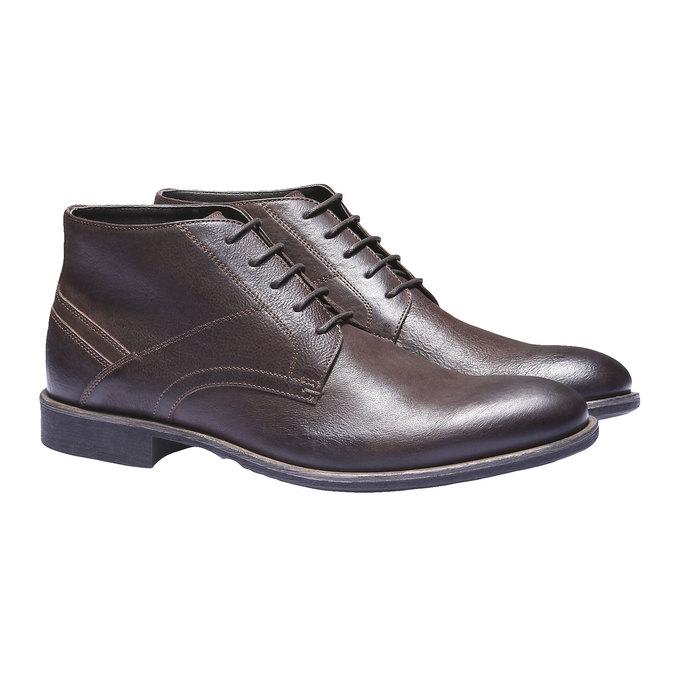 Kožená kotníčková obuv bata, hnědá, 894-4178 - 26