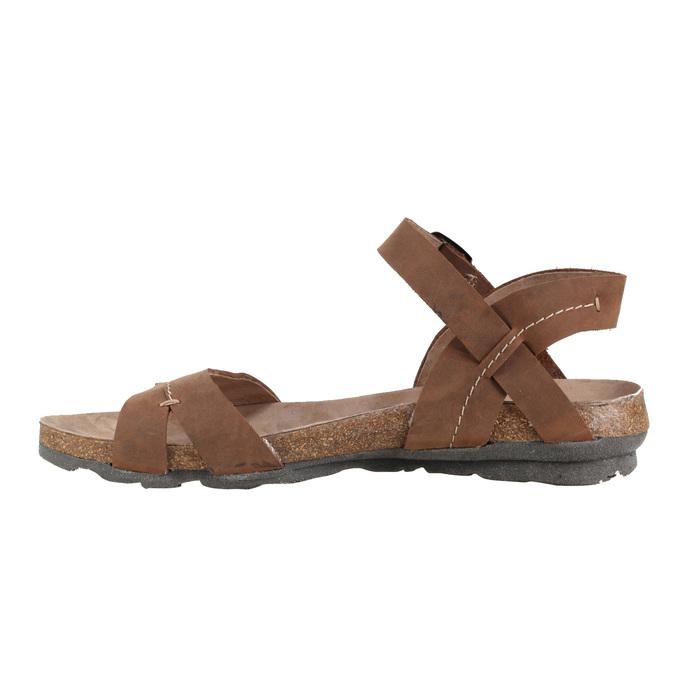 Dámské kožené sandály weinbrenner, hnědá, 566-4102 - 16