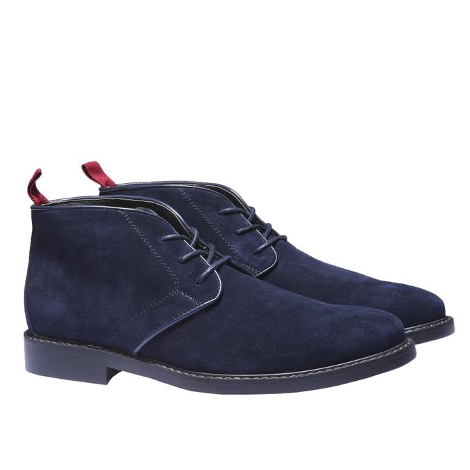 Kožené Chukka boty bata, modrá, 893-9245 - 26