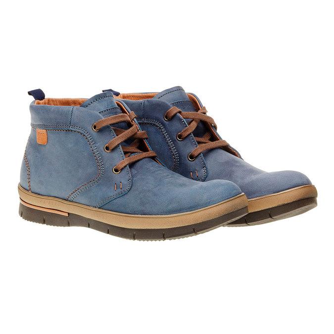 Kožená kotníčková obuv weinbrenner, modrá, 896-9209 - 26