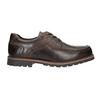 Kožené polobotky s prošitím na špici bata, hnědá, 826-4640 - 26