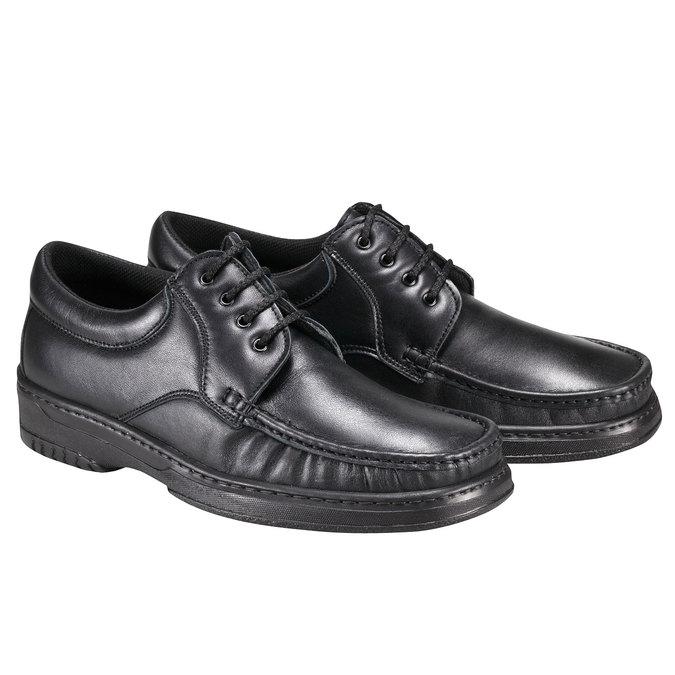 Kožená obuv pinosos, černá, 824-6760 - 26