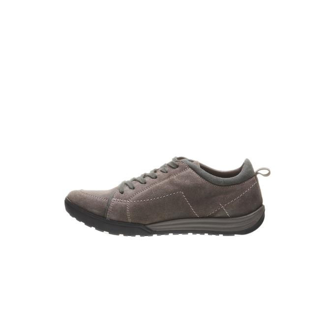 Kožené ležérní tenisky bata, hnědá, 843-3386 - 15