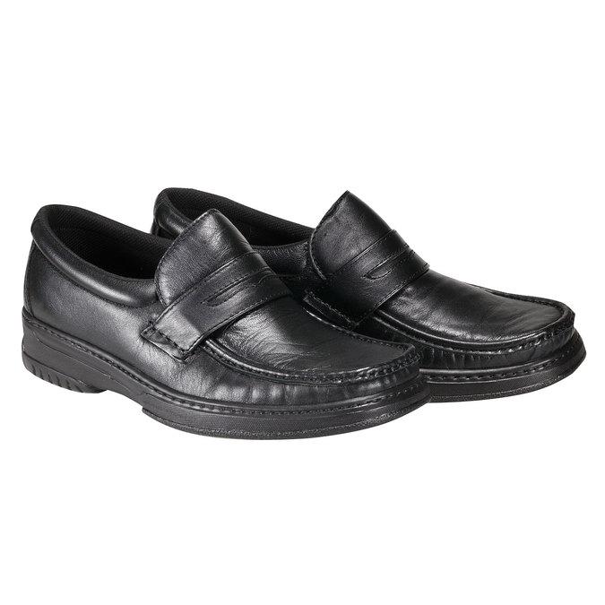 Kožená obuv pinosos, černá, 814-6119 - 26