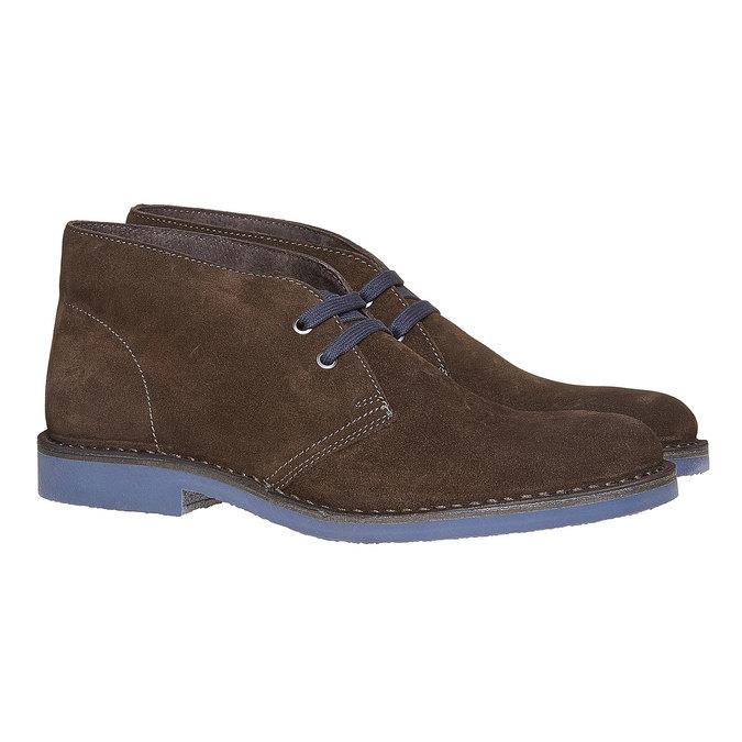 Kotníčková obuv ve stylu Chukka bata, hnědá, 893-4275 - 26