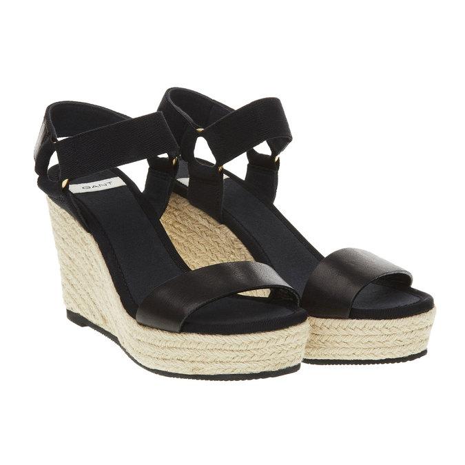 Dámské sandály na platformě gant, černá, 764-6014 - 26