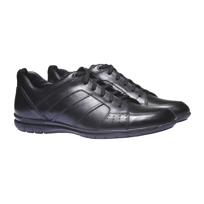 Kožené tenisky bata, černá, 824-6351 - 26