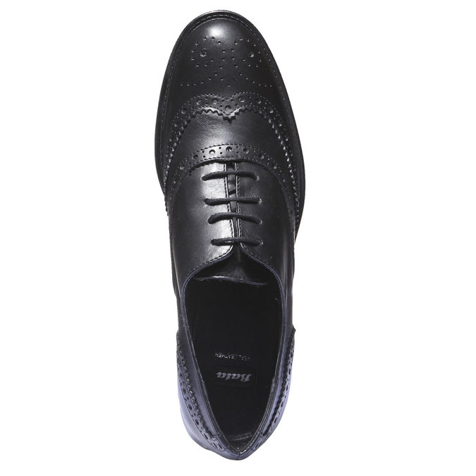 Kožené dámské polobotky bata, černá, 524-6185 - 19