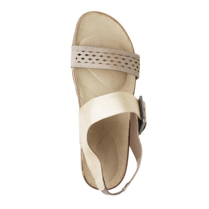Dámské kožené sandály rockport, žlutá, 566-8104 - 19